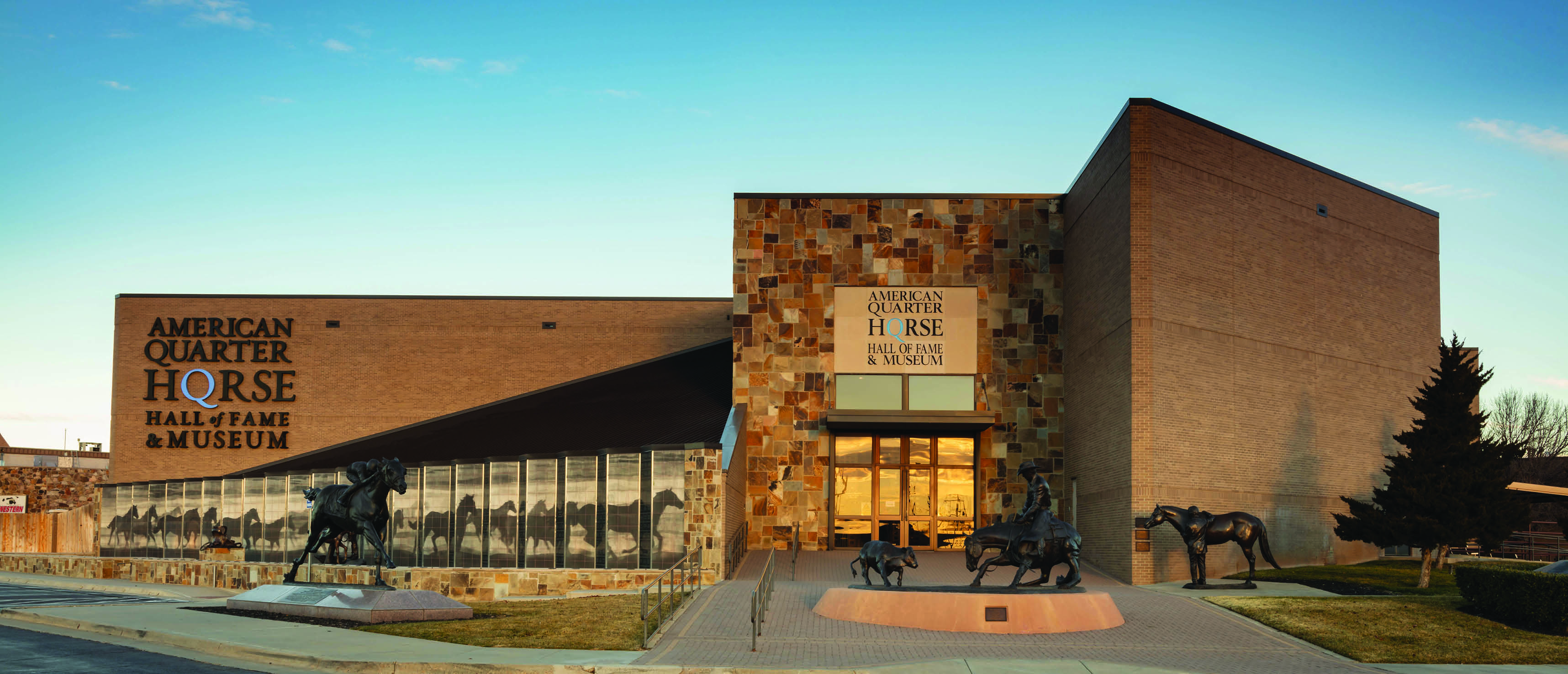 Exterior photo of the Hall of Fame & Museum in Amarillo