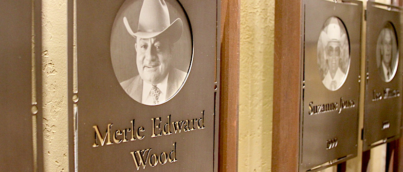 merle wood hall of fame plaque