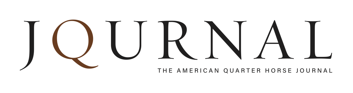 """Journal, The American Quarter Horse Journal"" logo"