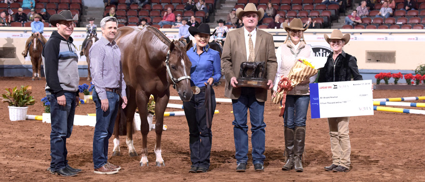 2018 AQHA World Show all around amateur Angela Fox and HP The Rusty Fox (Credit: Journal)