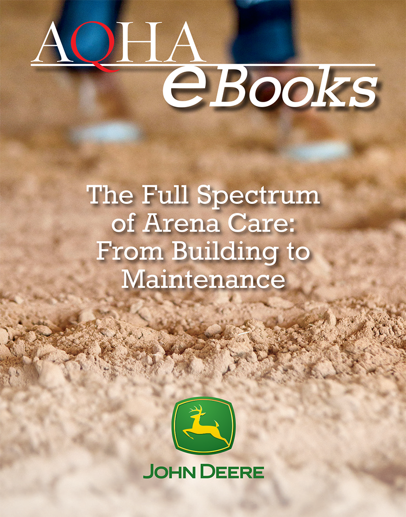 this e-book cover features a close up of horse arena dirt
