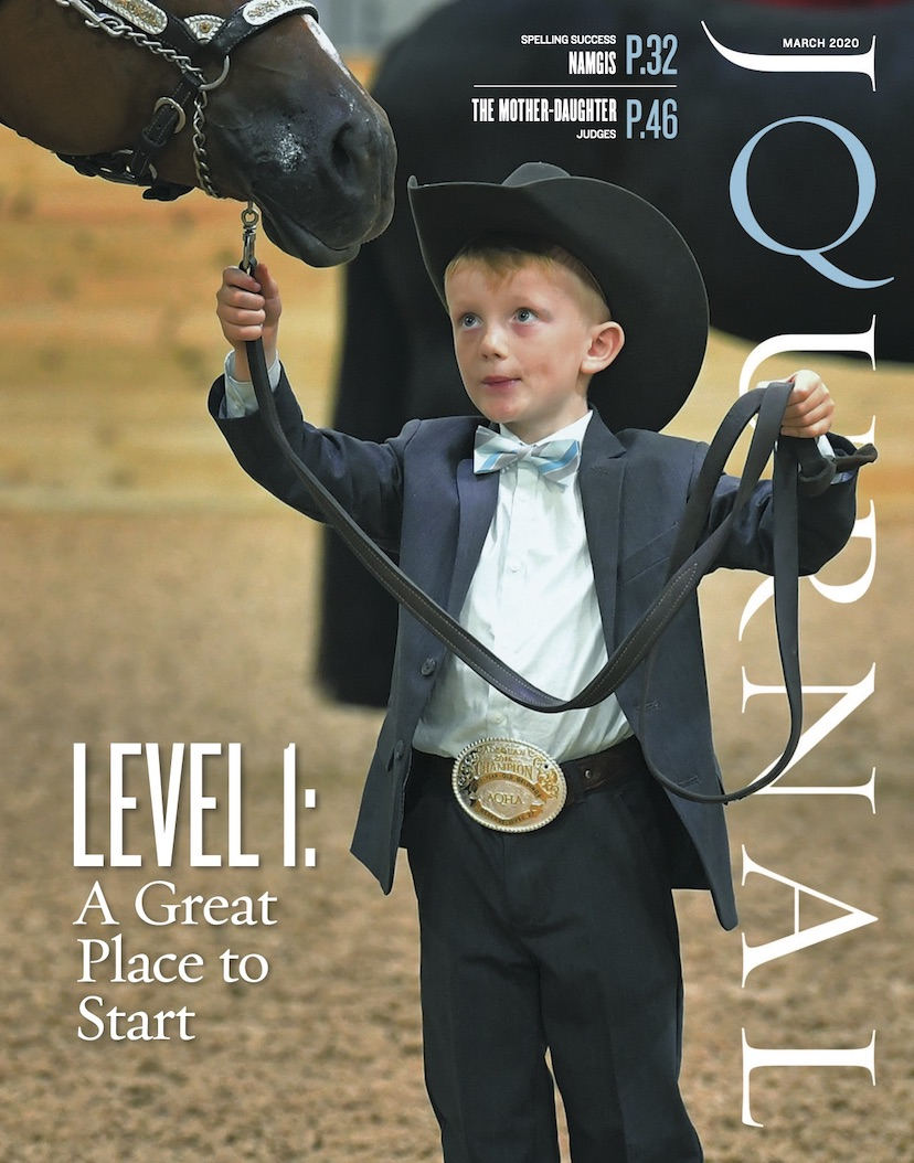 March 2020 American Quarter Horse Journal cover