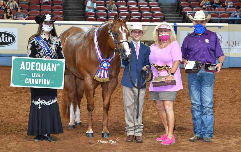 Aged Gelding winner at Built Ford Tough Youth World Championship Show. PHOTO: Shane Rux Photography