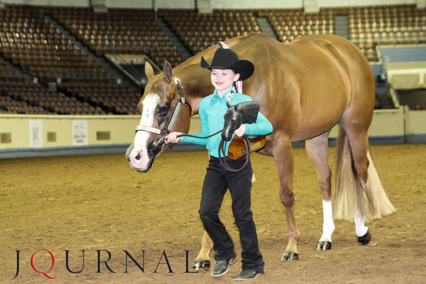 Trinity Bell and A Certain Faith took the win in youth halter champion of champions at the 2019 AQHA Central Level 1 Championships. (Journal photo)