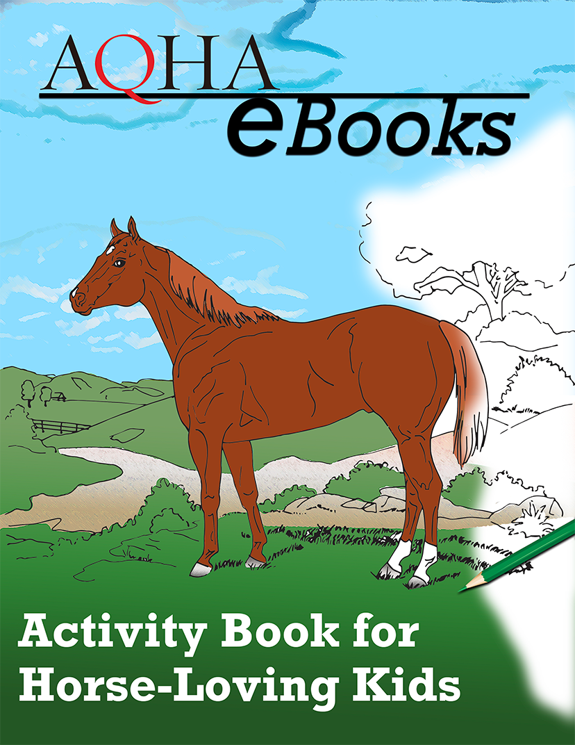 cover of Activity Book for Horse Loving Kids features a horse sketch from a coloring book